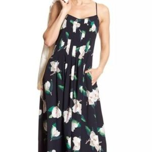 Banana Republic Navy Magnolia Pintuck Dress 6